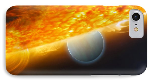 An Artists Impression Of A Jupiter-size Phone Case by Stocktrek Images