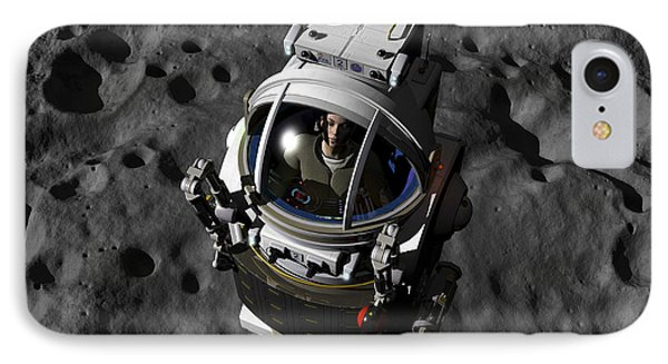 An Astronaut Piloting A Manned IPhone Case by Walter Myers
