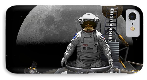 An Astronaut Takes A Last Look At Earth Phone Case by Walter Myers