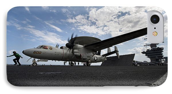 An E-2c Hawkeye Aircraft Prepares Phone Case by Stocktrek Images