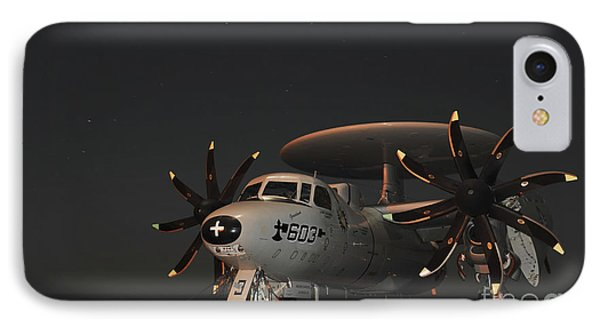 An E-2c Hawkeye Is Chained Phone Case by Stocktrek Images