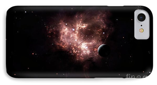 An Emission Nebula Is Viewed From Neaby Phone Case by Brian Christensen