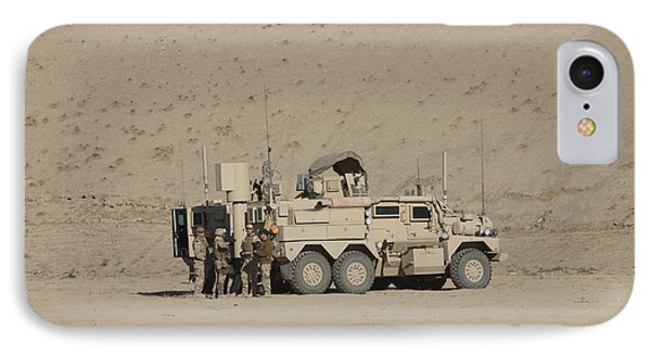 An Eod Cougar Mrap In A Wadi Phone Case by Terry Moore