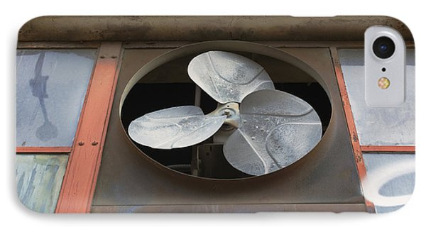 An Exhaust Fan At A Ventilation Outlet IPhone Case by Nathan Griffith