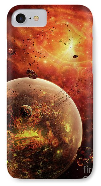 An Eye-shaped Nebula And Ring Phone Case by Brian Christensen