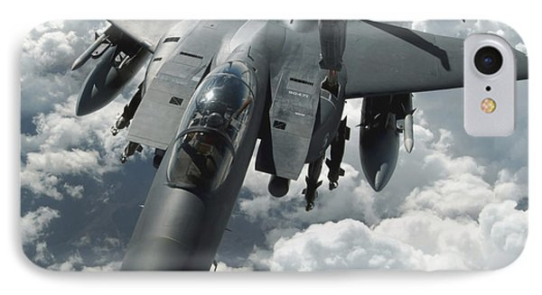 An F-15 E Strike Eagle Receives Fuel Phone Case by Stocktrek Images