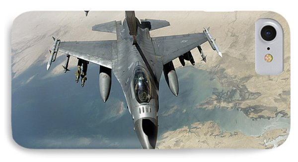 An F-16 Fighting Falcon Refuels Phone Case by Stocktrek Images
