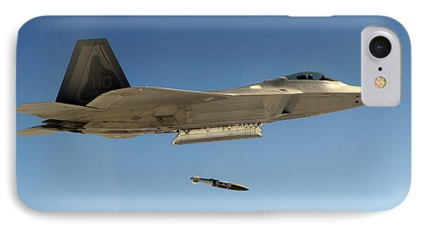 An F-22a Raptor Drops A Gbu-32 Bomb Phone Case by Stocktrek Images