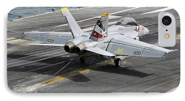 An Fa-18f Super Hornet Traps An Phone Case by Stocktrek Images