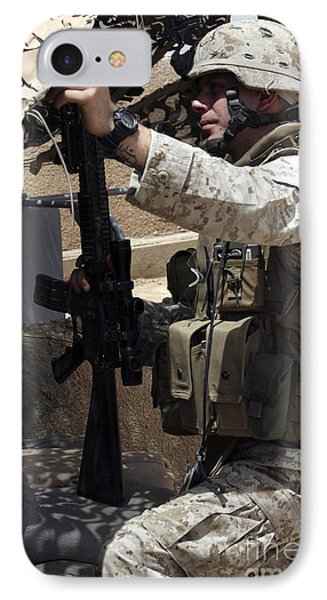 An Infantryman Talks To His Marines Phone Case by Stocktrek Images