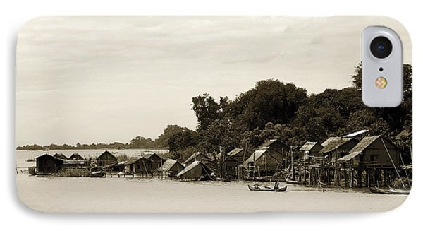 An Island Village On River Irrawaddy Phone Case by RicardMN Photography