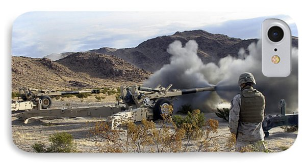 An M198 Howitzer Fires A 155-millimeter Phone Case by Stocktrek Images