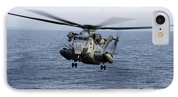 An Mh-53e Sea Dragon In Flight Phone Case by Stocktrek Images