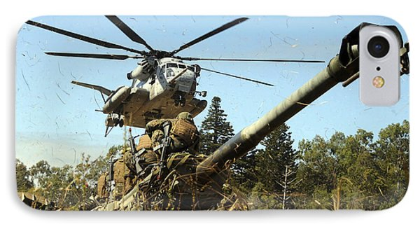 An Mh-53e Sea Stallion Helicopter Phone Case by Stocktrek Images