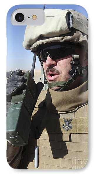 An Officer Relays Commands Phone Case by Stocktrek Images