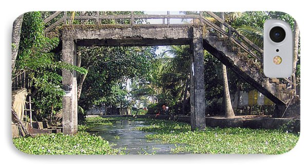 An Old Stone Bridge Over A Canal In Alleppey Phone Case by Ashish Agarwal