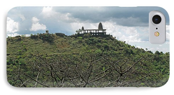 An Old Temple Building On Top Of A Hill With A Lot Of Clouds In The Sky Phone Case by Ashish Agarwal