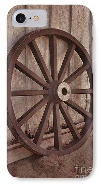 An Old Wagon Wheel IPhone Case by Donna Greene
