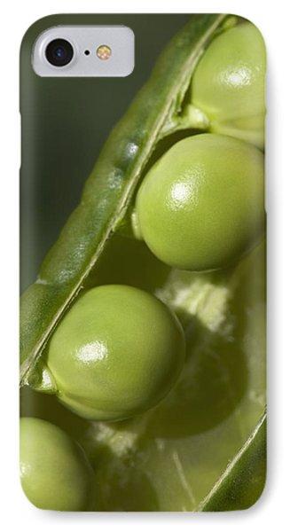 An Opened Green Pea Pod Alberta, Canada Phone Case by Michael Interisano
