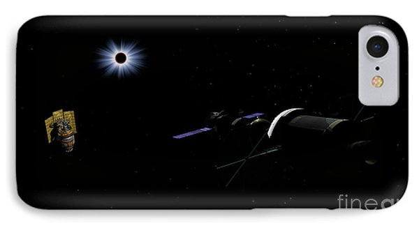 An Orion Class Crew Exploration Vehicle IPhone Case by Walter Myers