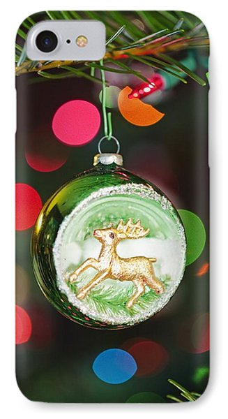 An Ornament With A Reindeer Hanging Phone Case by Craig Tuttle
