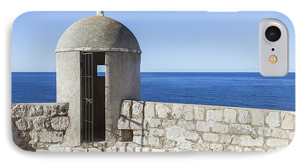An Outpost Overlooking The Adriatic Sea Phone Case by Greg Stechishin