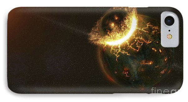 Ancient Earth Impact IPhone Case by Fahad Sulehria