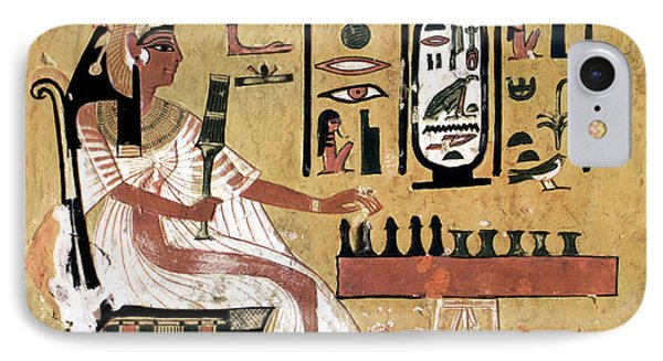 Ancient Egypt: Chess IPhone Case by Granger