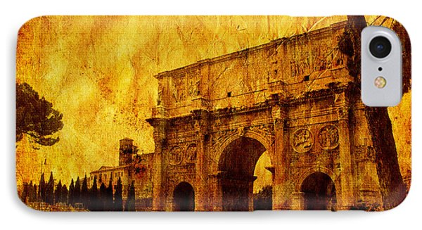 Ancient Rome IPhone Case by Stefano Senise