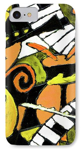 And All That Jazz Orange Phone Case by Wayne Potrafka
