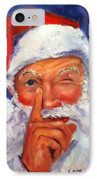 IPhone Case featuring the painting And Giving A Wink by Carol Berning