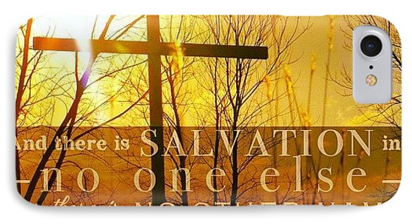 and There Is Salvation In No One IPhone Case by Traci Beeson