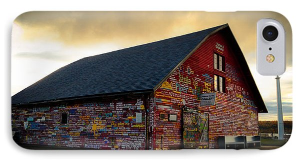 Anderson Barn At Dusk IPhone Case by Mark David Zahn