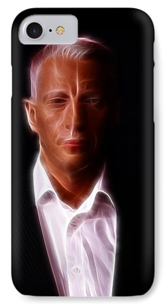 Anderson Cooper - Cnn - Anchor - News IPhone Case by Lee Dos Santos