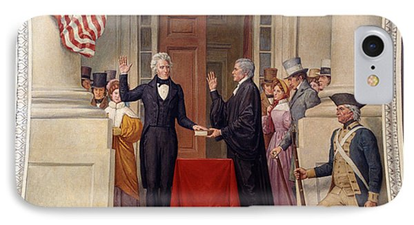 Andrew Jackson At The First Capitol Inauguration - C 1829 IPhone Case