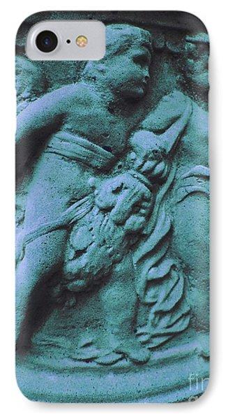 Angel In Blue   IPhone Case by Ann Powell
