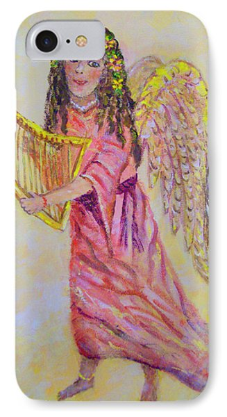 IPhone Case featuring the painting Angel by Lou Ann Bagnall