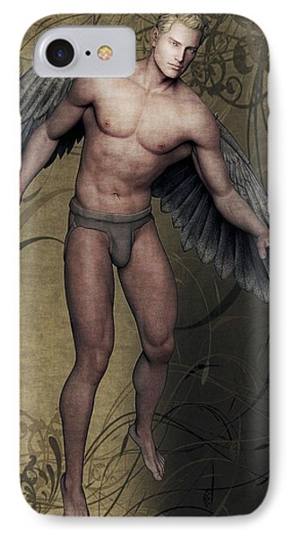 IPhone Case featuring the painting Angel by Maynard Ellis