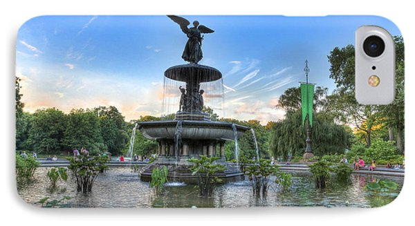 Angel Of The Waters Fountain  Bethesda II Phone Case by Lee Dos Santos