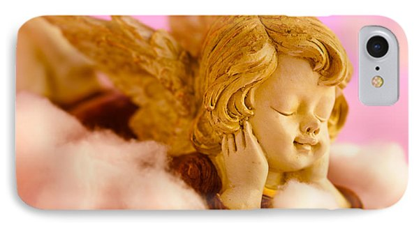 Angel Resting On Clouds And Enjoying The Sun Phone Case by U Schade