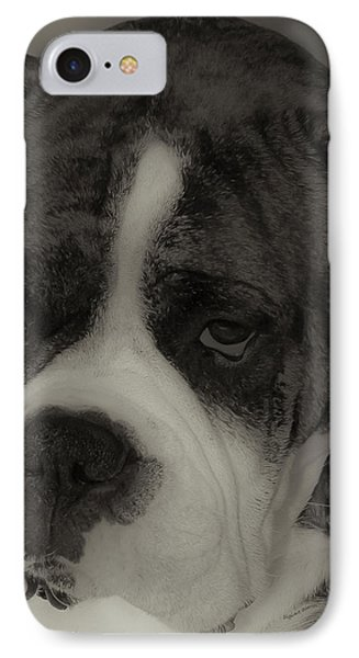 Angelic Boxer Phone Case by DigiArt Diaries by Vicky B Fuller