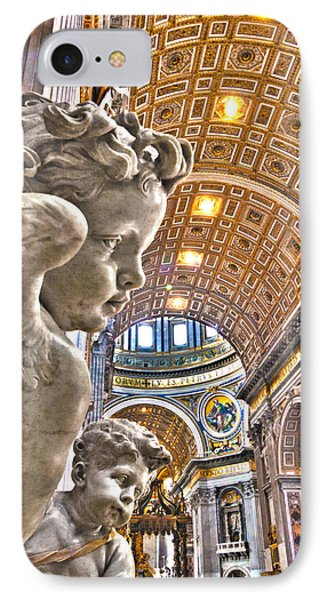 Angels At The Vatican Phone Case by Michael Yeager