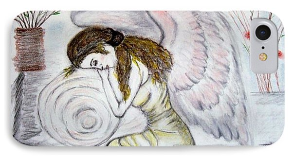 IPhone Case featuring the drawing Angelshaven by Lori  Lovetere