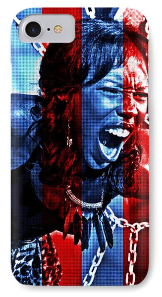 IPhone Case featuring the photograph Anger In Red And Blue by Alice Gipson