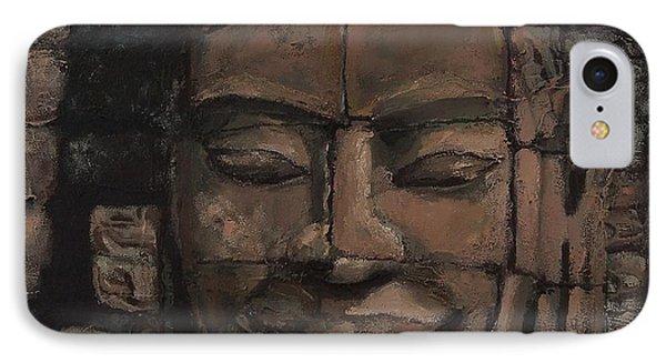 Angkor Smile - Angkor Wat Painting Phone Case by Khairzul MG