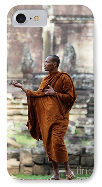 IPhone Case featuring the photograph Angkor Wat Monk by Nola Lee Kelsey