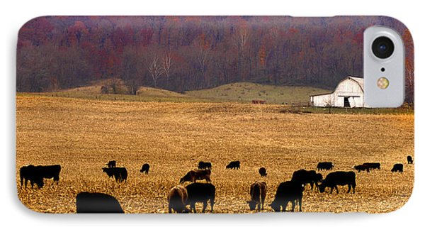 IPhone Case featuring the photograph Angus And Oaks  Farm by Randall Branham