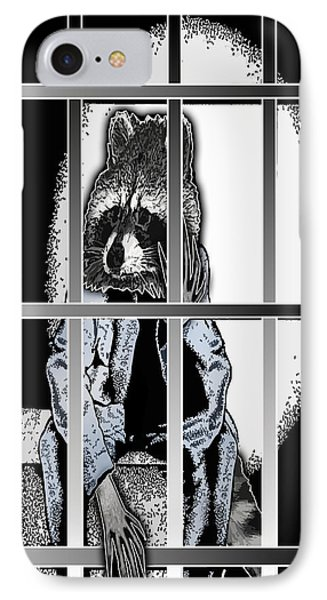Animal Family 6 Robby Raccoon Phone Case by Travis Burns