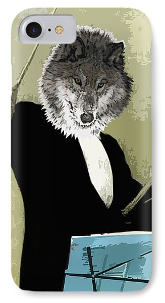 Animal Family 8 Wolf Composer Phone Case by Travis Burns