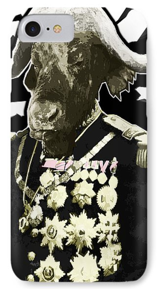 Animal Family 9 General Buffalo Phone Case by Travis Burns